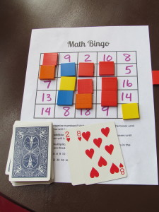 Addition and Multiplication Fact Bingo, with free printable
