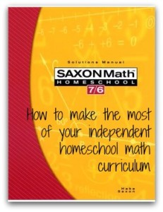 Making the most of your independent homeschool math curriculum