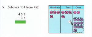 using abacaus for multi-digit subtraction