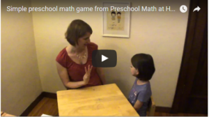 Preschool Math Activity: Fingers Up, Fingers Down