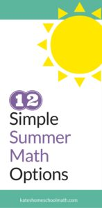12 Simple Summer Math Options