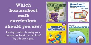 Fun quiz: Which homeschool math curriculum should I use?
