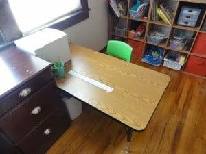 E-age-5's new desk