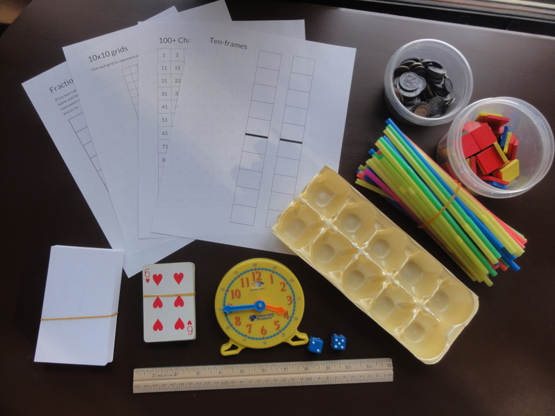 homeschool math manipulatives free