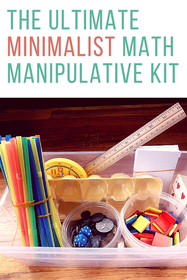 Minimalist Classroom Book ~ How to create your own free math manipulative kit