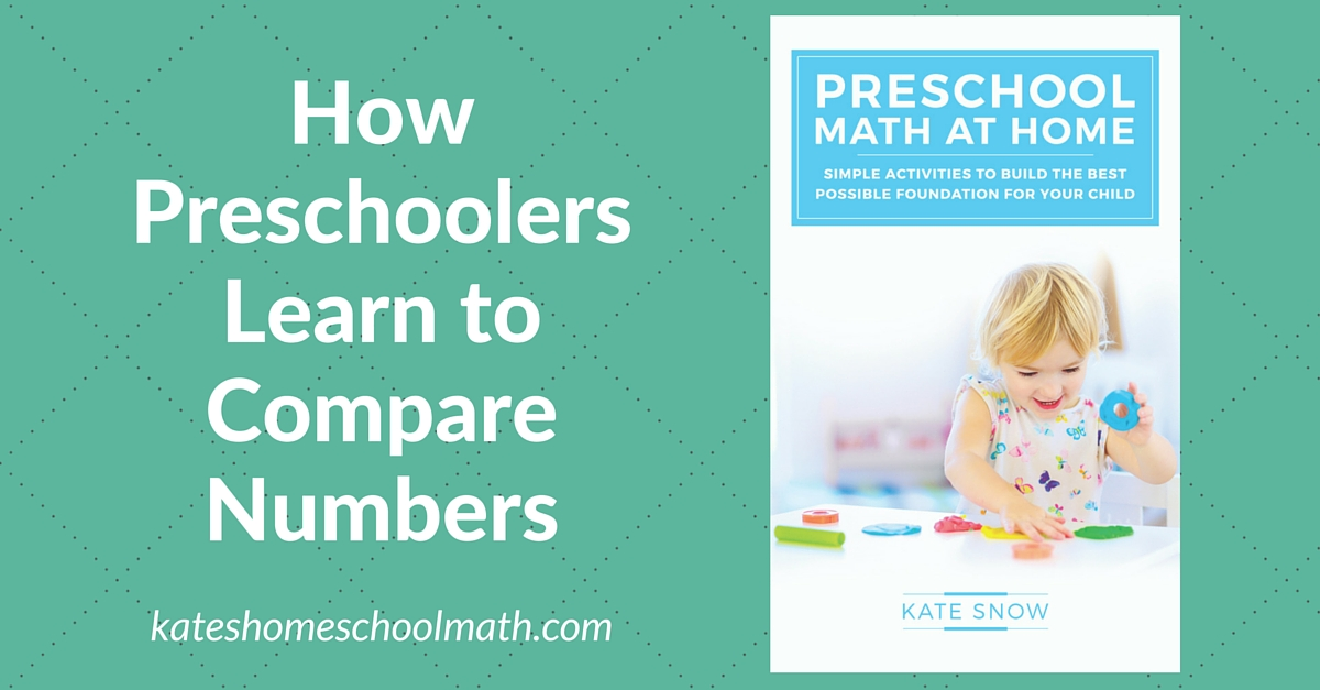 How Preschoolers Learn to Compare Numbers