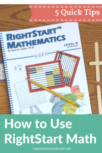5 Quick Tips to Get the Most Out of RightStart Math