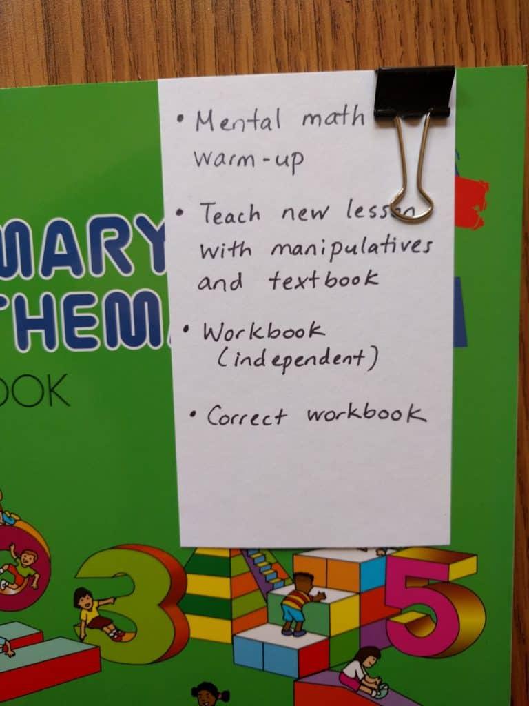 singapore math checklist