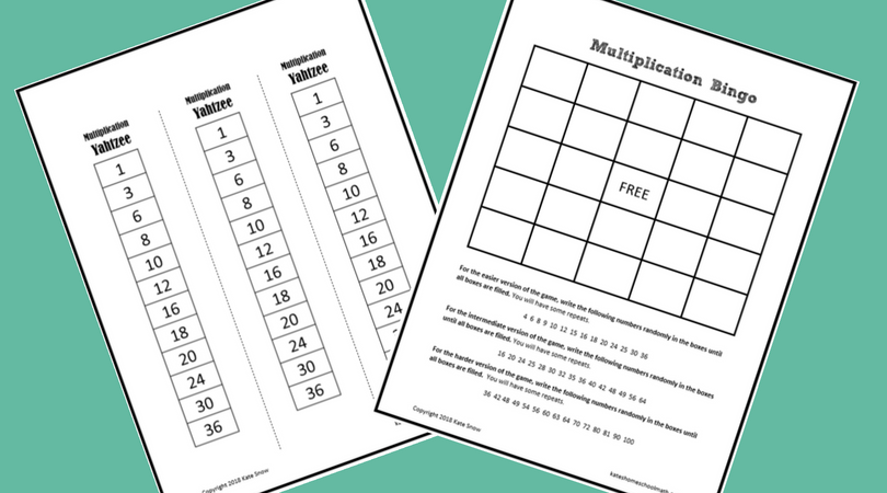 picture about Multiplication Bingo Printable called 3 Exciting (and Cost-free!) Printable Multiplication Data Online games